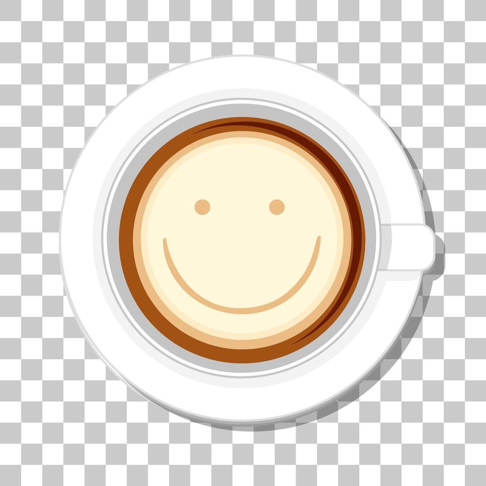 vue de dessus de tasse de café isolé sur fond transparent vecteur