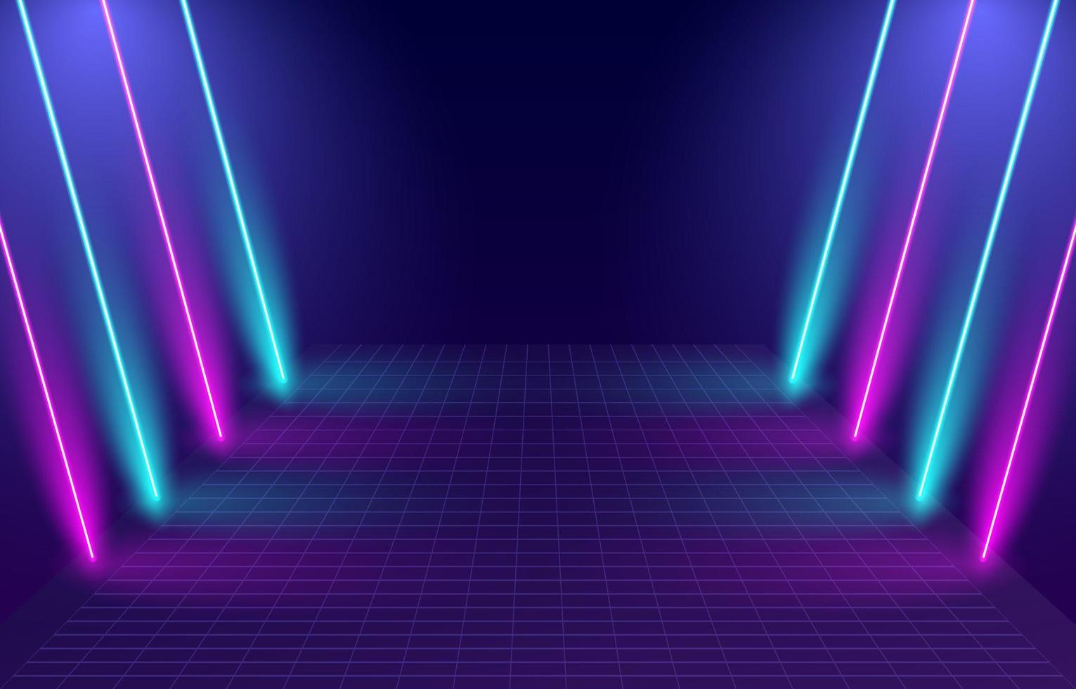 fond de porte lumineuse au néon vecteur
