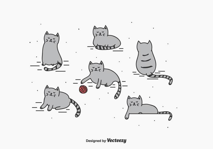 Petit ensemble de vecteur de chat