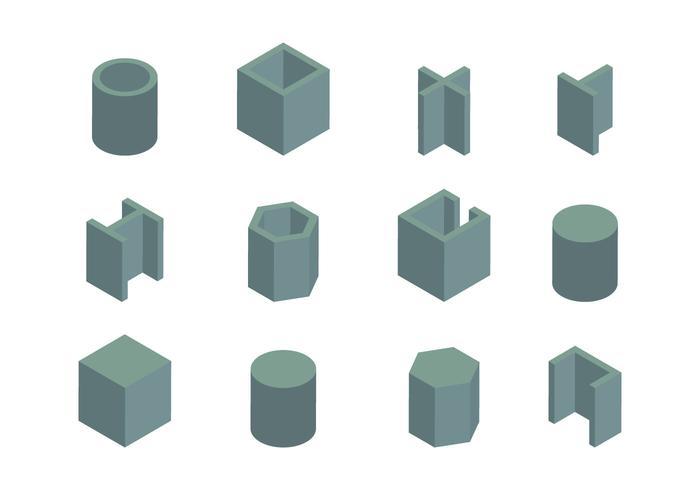 Vecteur de poutre isométrique