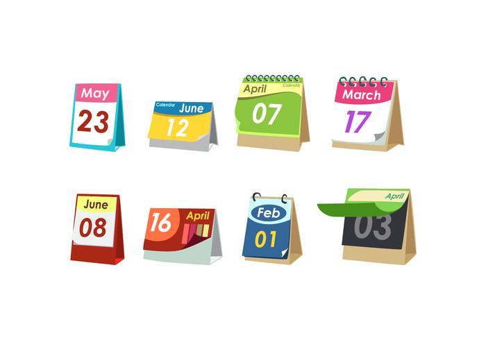 Vecteur libre de calendrier de bureau simple