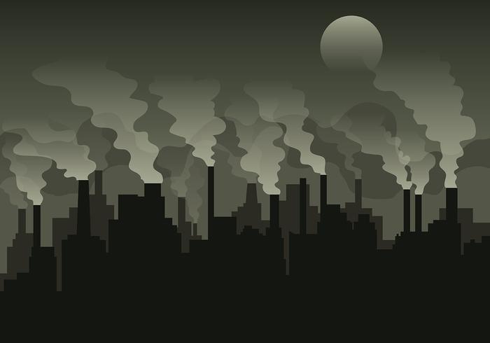 Fond de vecteur de la pile de fumée