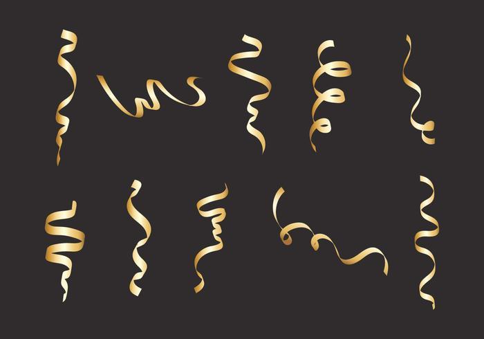 Vecteur serpentine en or