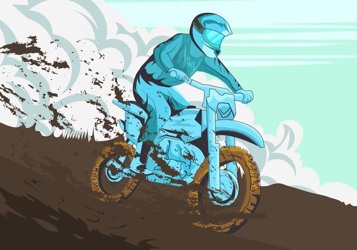 Tournoi Rider In Motorcross vecteur