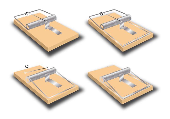 Vecteurs de trappe de souris vecteur