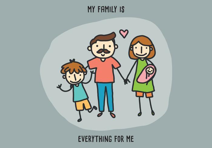 Ma famille est tout pour moi vecteur