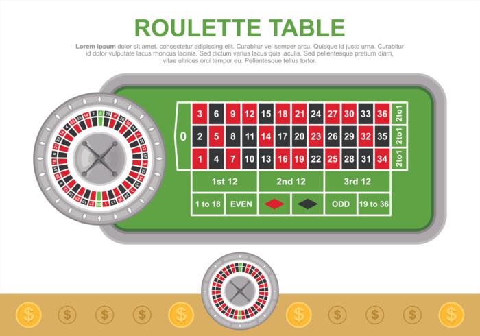 Illustration vectorielle de table de roulette vecteur