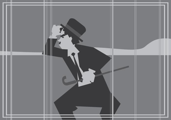 Film silencieux Charlie Chaplin Vector