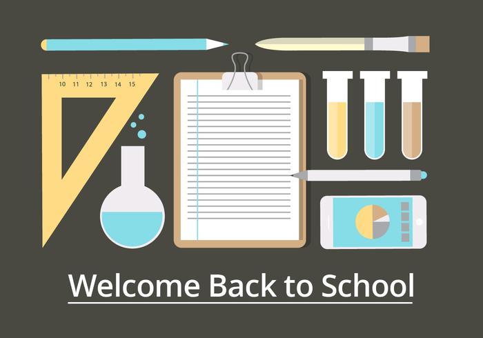 Éléments vectoriels libres de retour à l'école vecteur
