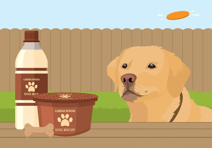 Biscuit pour chien Free Vector