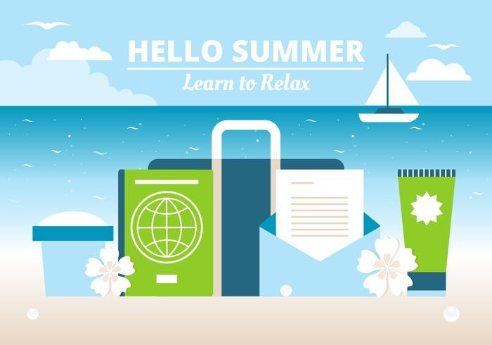 Vector Free Design Summer Time Background