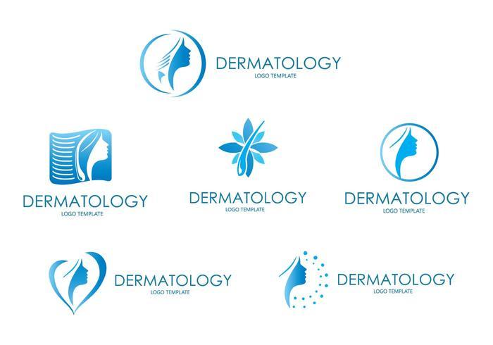 Dermatologie Logo moderne vecteur