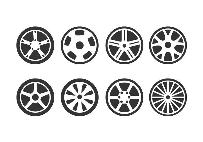 Icône des roues en alliage vecteur