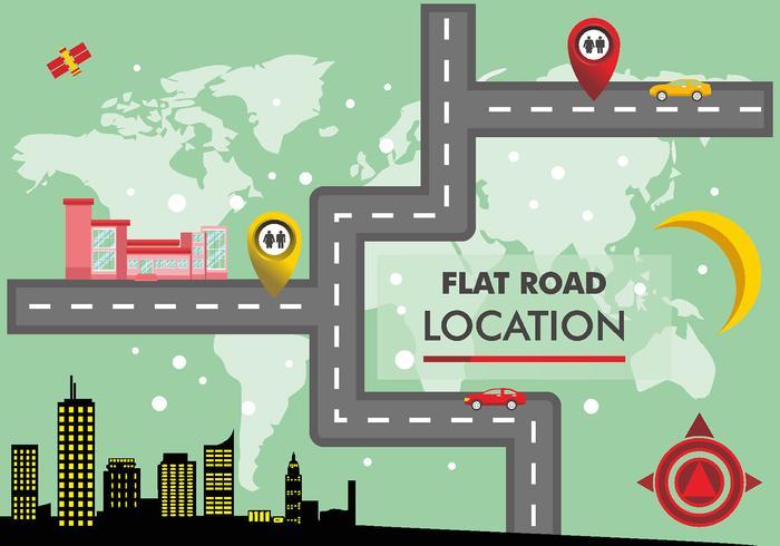 Plan de route Vector Design