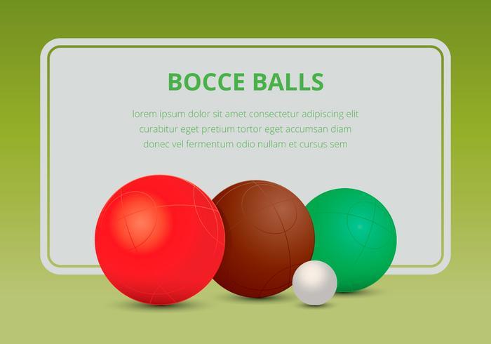 Ensemble de boules de sport Bocce vecteur