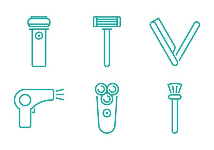 Icône de ligne de rasage vecteur