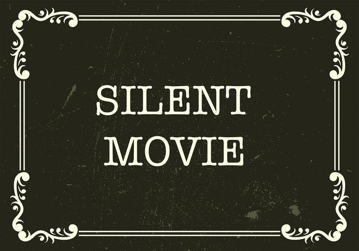 Vecteur de fond de film silencieux