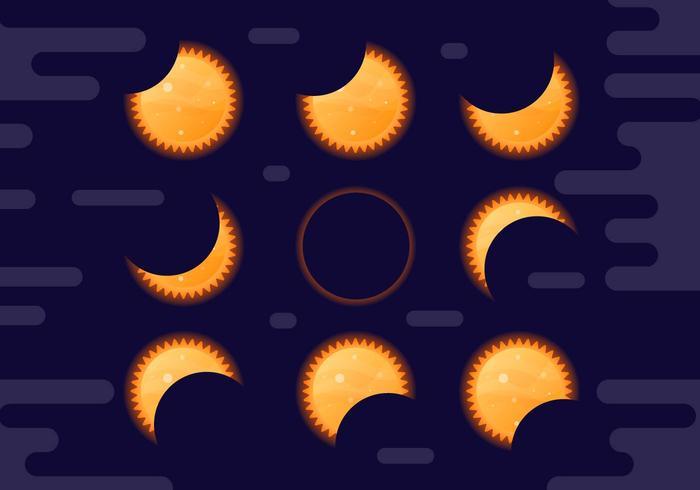 Free Solar Eclipse Vector