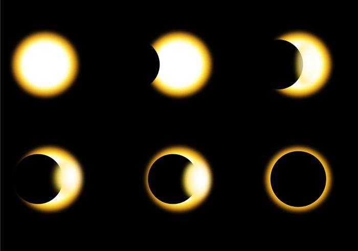 Vecteurs de phase Eclipse solaire vecteur