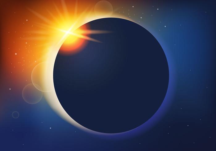 Lentille Eclipse solaire vecteur