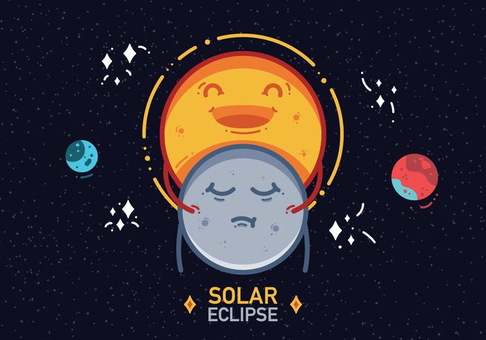 Vecteur libre d'éclipse solaire 2017