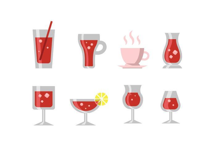 Icône vecteur boissons