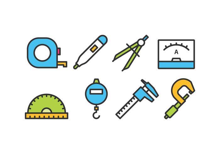 Pack d'icônes de mesure vecteur