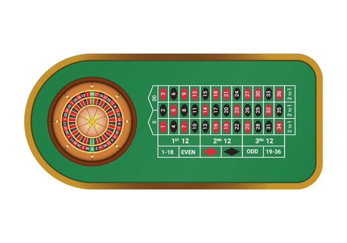 Table de roulette américaine gratuite vecteur