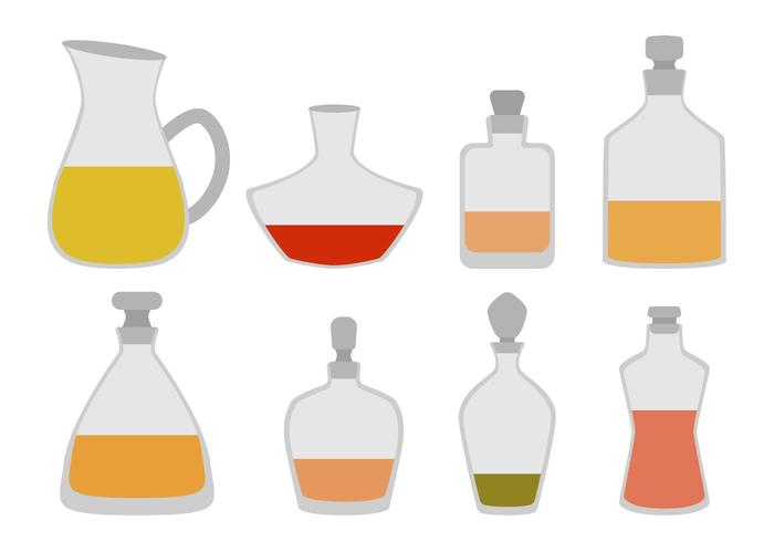 Vecteurs de décanteurs plats vecteur