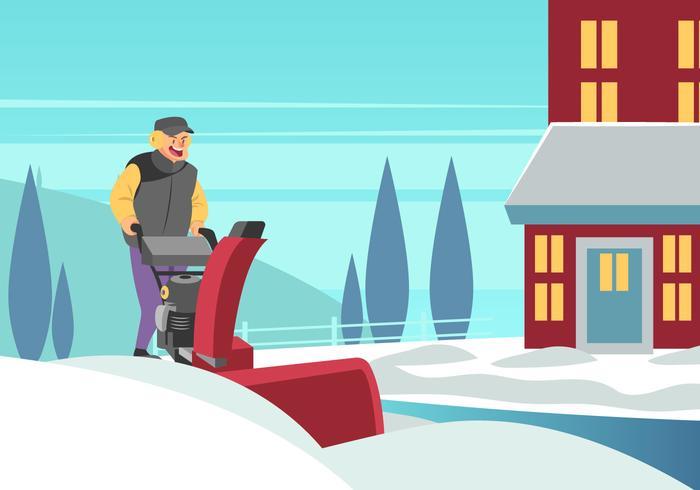 Souffleuse à neige vecteur