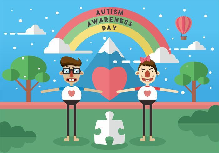 Art de vecteur de la journée de sensibilisation autistes