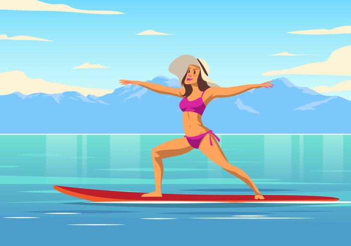 Vector de Paddleboard Yoga