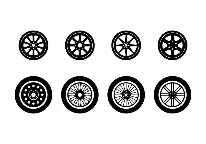 Vecteurs de hubcap exclusifs gratuits vecteur