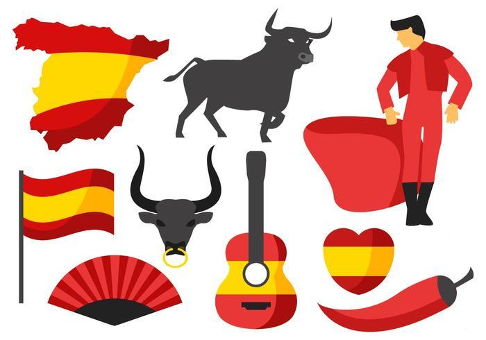 Vecteur d'icônes Espagne gratuit