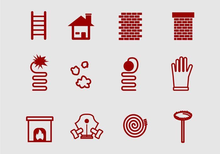 Element de balayage de cheminée vecteur