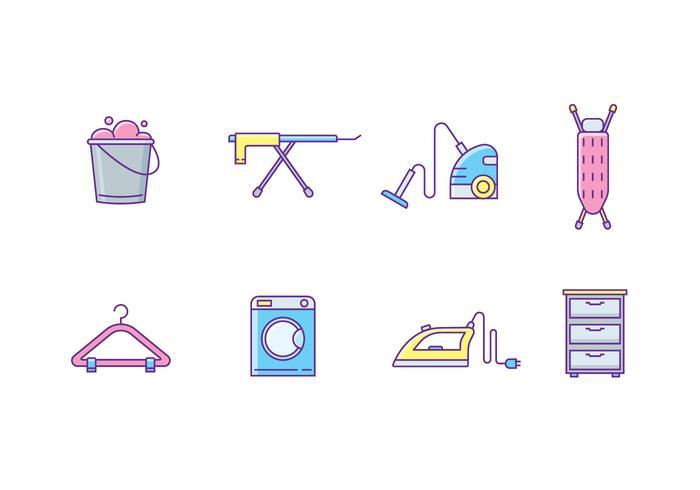 Icônes pour appareils ménagers vecteur