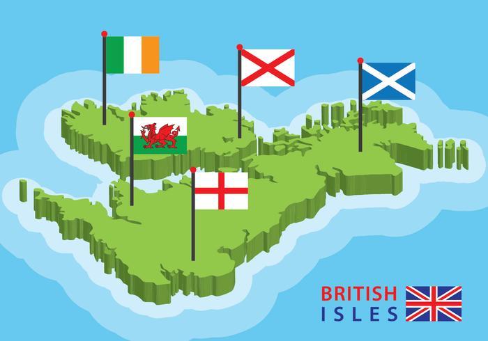 Carte des îles Britanniques vecteur