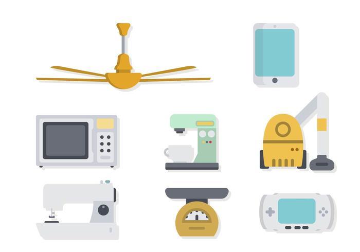 Vecteurs d'appareils ménagers et de divertissement vecteur