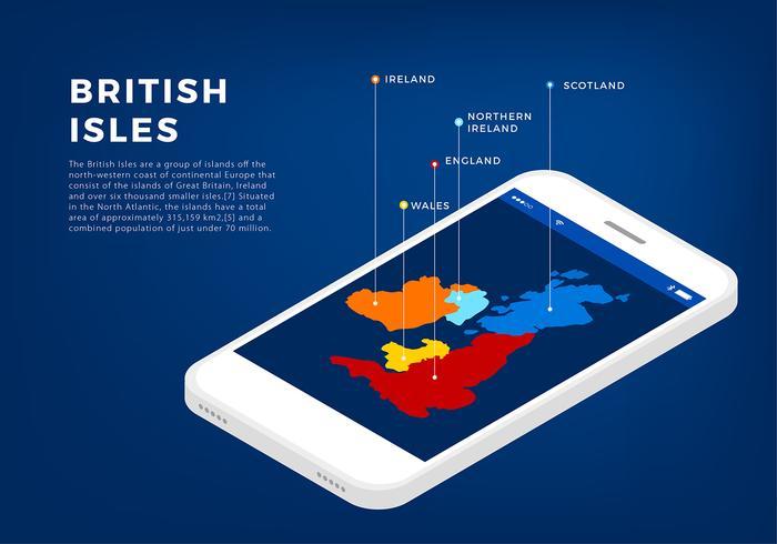 Vecteur libre d'interface d'îles britanniques