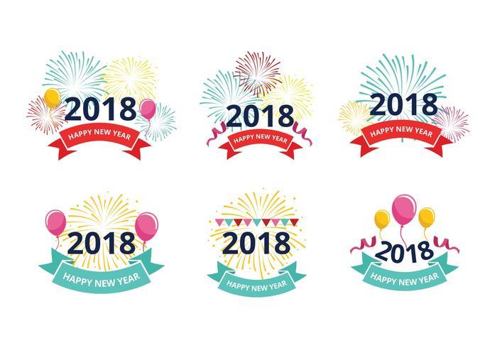 Bonne année 2018 vecteurs libres de salutation vecteur