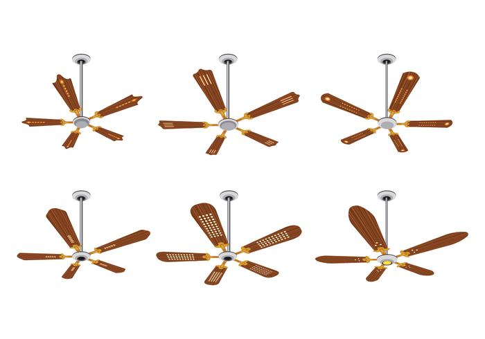 Ensemble de vecteurs de ventilateur de plafond vecteur