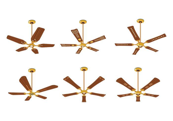 Collection de ventilateur de plafond électrique vecteur