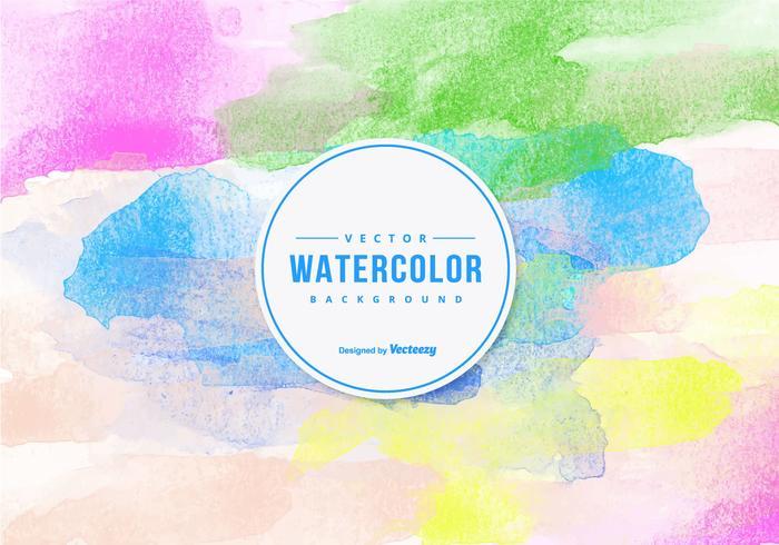 Aquarelle colorée vecteur