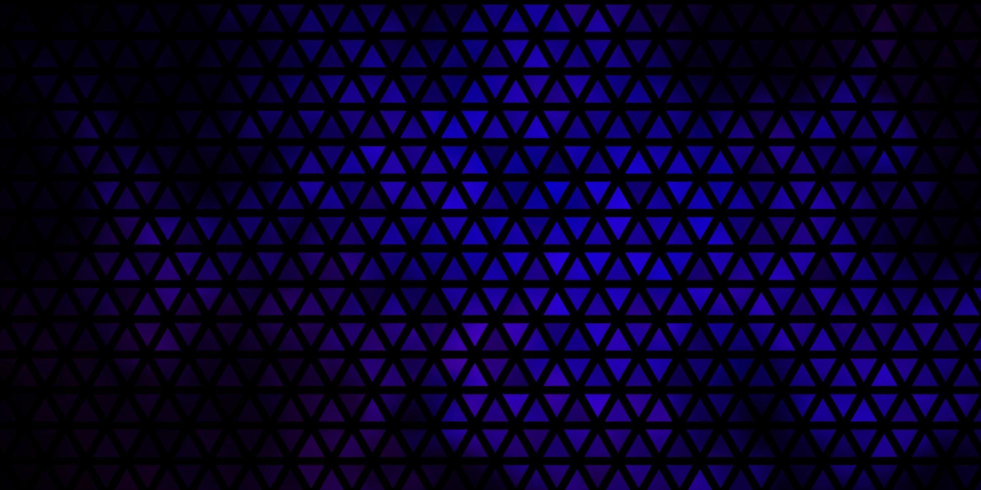 toile de fond bleu foncé avec des lignes, des triangles. vecteur