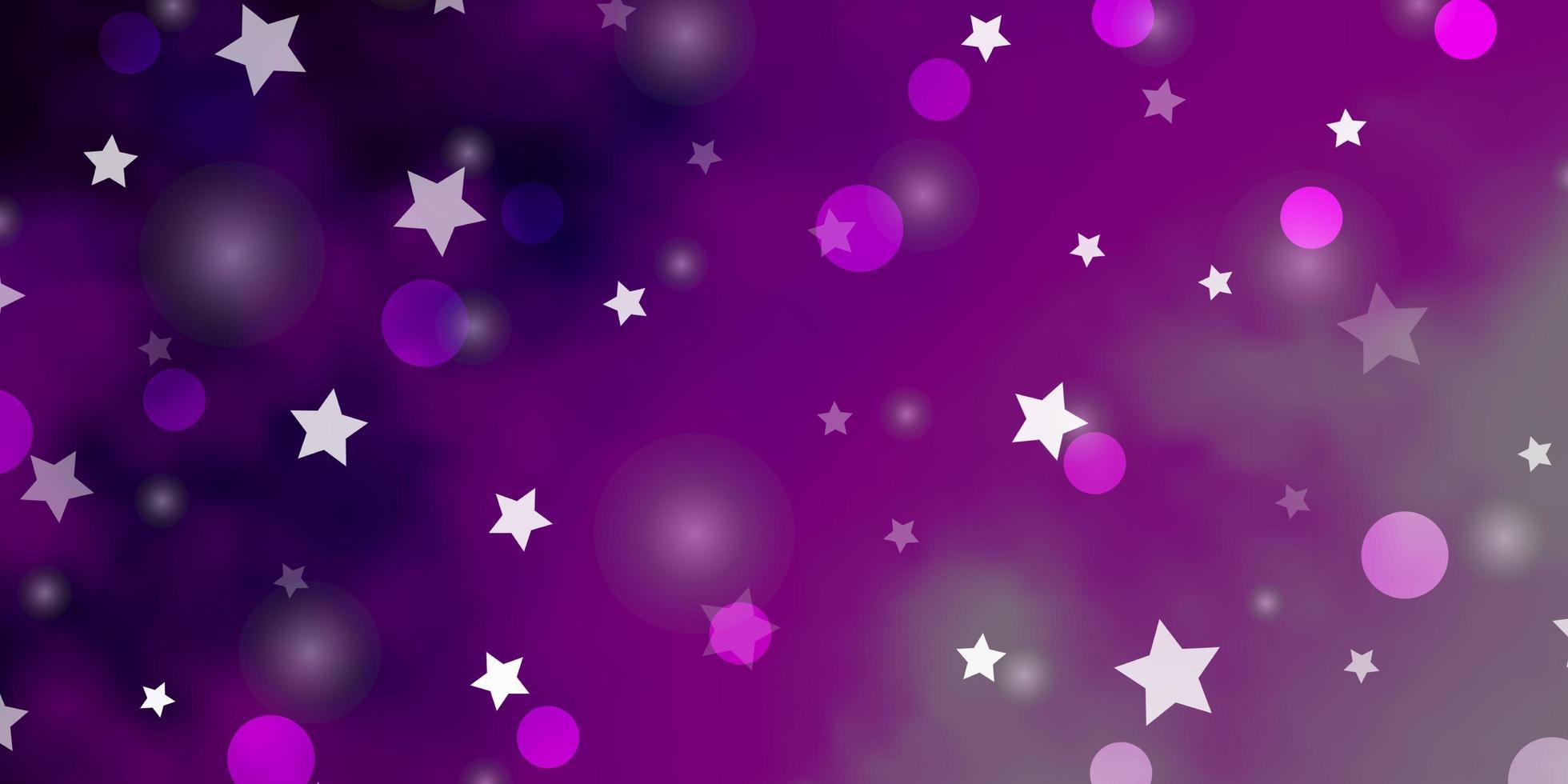 mise en page rose avec des cercles, des étoiles. vecteur