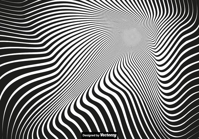 Vector Vertigo Background - Abstract Fond noir et blanc
