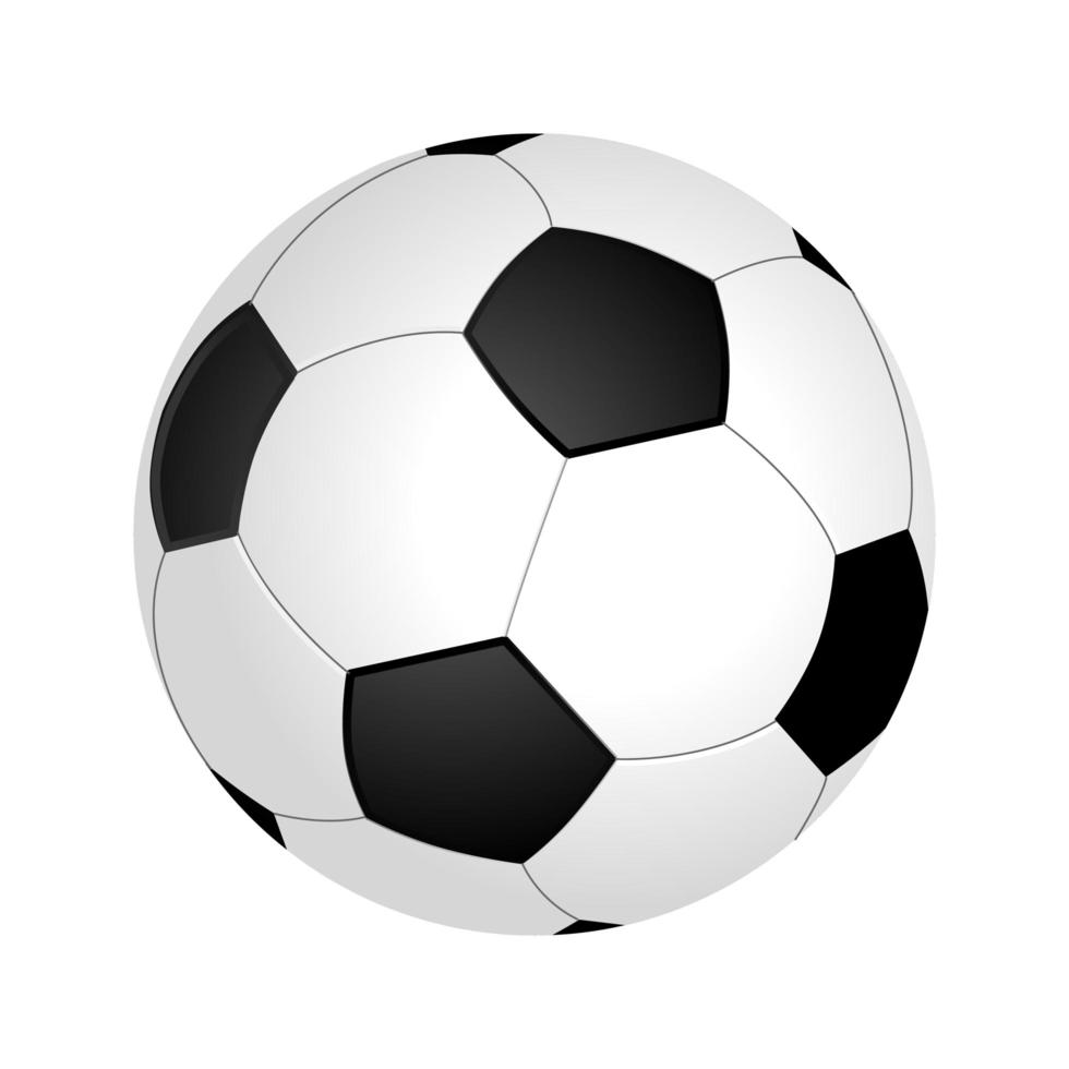 ballon de football réaliste vecteur