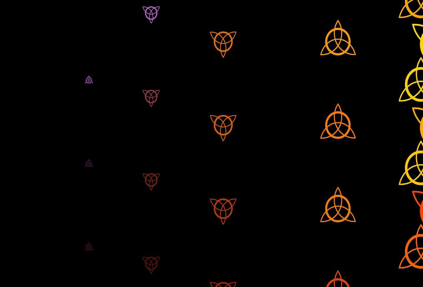 modèle orange avec des signes ésotériques. vecteur