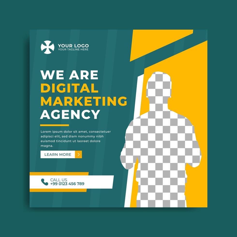 ensemble de modèle de bannière d'agence de marketing vecteur