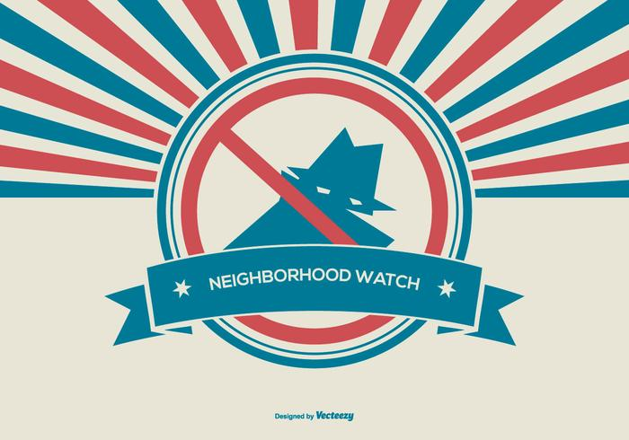 Illustration Rtetro Style Neighborhood Watch vecteur